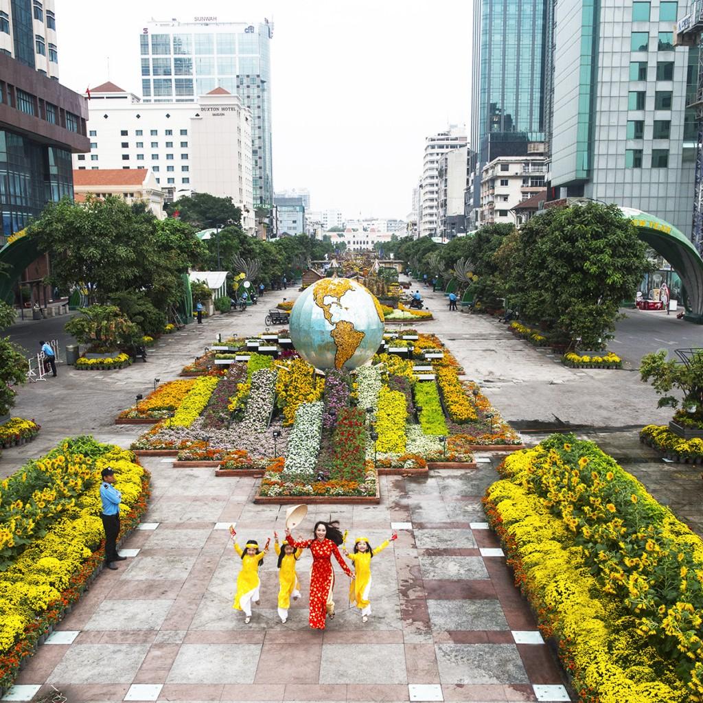 saigon flower festival 호치민 봄꽃축제 HCMC Spring Flower Festival 2017