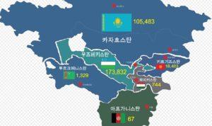 central asia map 300x178 EBS 다큐프라임   중앙아시아, 살아남은 야생의 기록 5부작