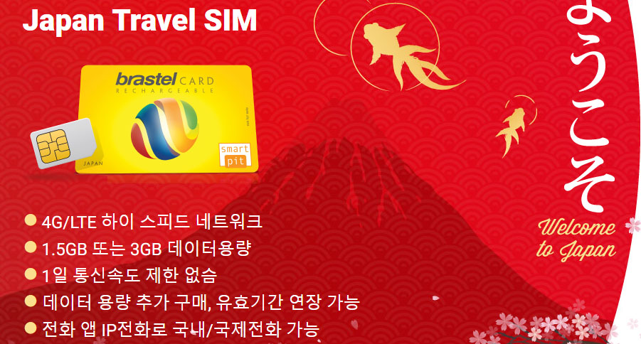 Japan Travel SIM 일본 여행객을 위한 희소식! 현지 음성통화 가능한 SIM카드(유심칩)