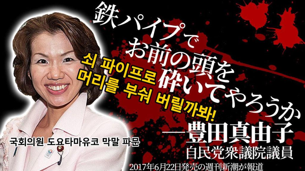 toyota mayuko japan 1024x576 일본 여성 국회의원 도요타 마유코의 갑질 막말 폭행과 협박