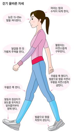 walking style 다이어트에 효과적인 걷기운동, 파워워킹 1만보는 몇km?