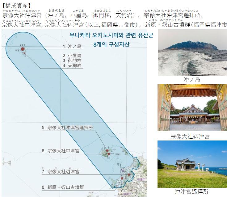무나카타 오키노시마와 관련 유산군 후쿠오카현 무나카타 오키노시마 유네스코 세계유산 등록