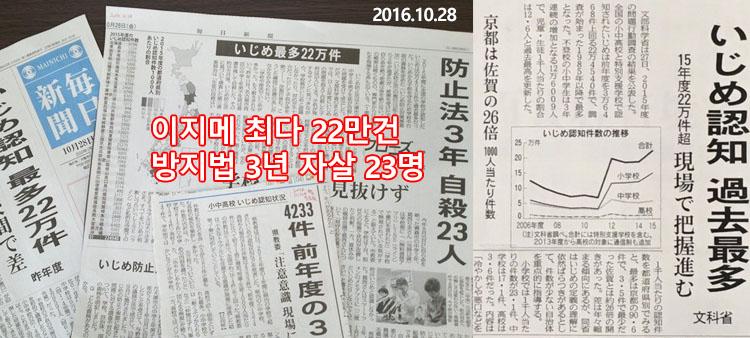 일본 이지메 발생건수 일본정부 SNS를 이용한 이지메 상담창구 개설 준비