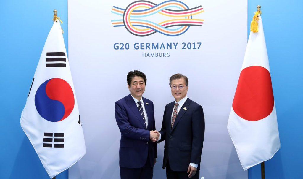 G20 한일정상회담 문재인 아베총리 1024x603 문재인 대통령, 아베총리 독일에서 첫 정상회담 일본뉴스
