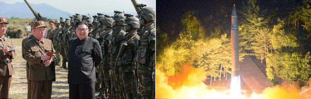 북한 김정은 미사일 발사 참관 1024x328 북한 평양에서 탄도미사일 발사, 일본 상공 통과 2,700km비행