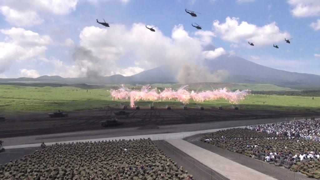 일본 자위대 종합 화력 연습 1024x577 일본 군사훈련 후지종합화력연습 공격용 코브라 헬기 불시착