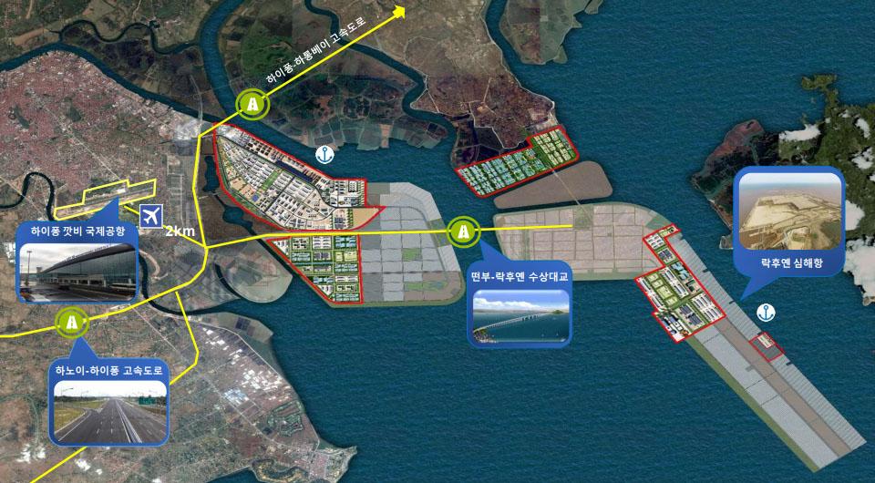 베트남 하이퐁 주변지도 일본기업 하이퐁에 베트남 최장의 락후옌 해상대교 완공