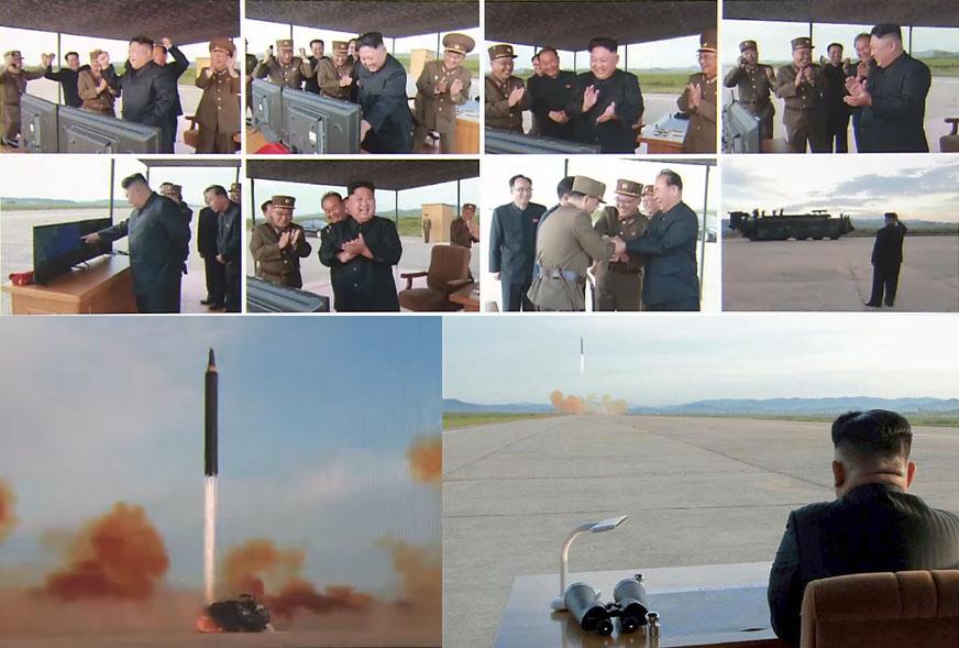 북한 탄도미사일 실전배치 북한 탄도 미사일 화성12형 전력화! 김정은 발사 참관