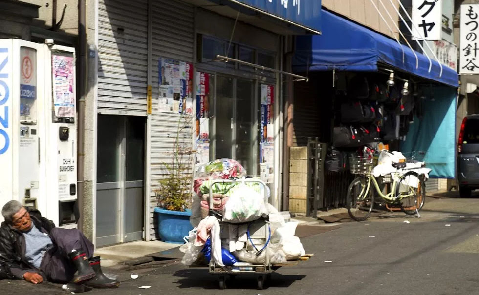 일본 빈민가 도쿄 산야(山谷) 도시빈민가와 일본의 3대 빈민거리