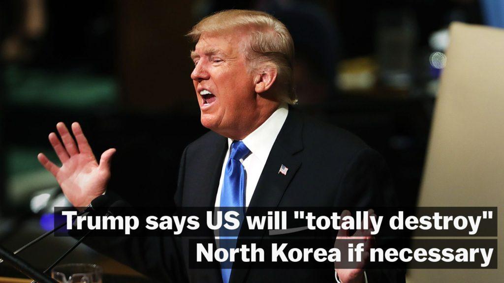 트럼프 유엔연설 북한 파괴 1024x576 트럼프 유엔 연설에서 북한 김정은에게 경고! 일본인 납치 소녀 언급
