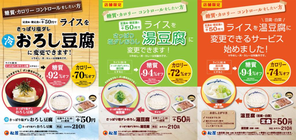 규동 마츠야 두부 1024x484 유산균, 로푸드, 저당질(저탄수화물)로 일본의 건강기능식품 시장 확대