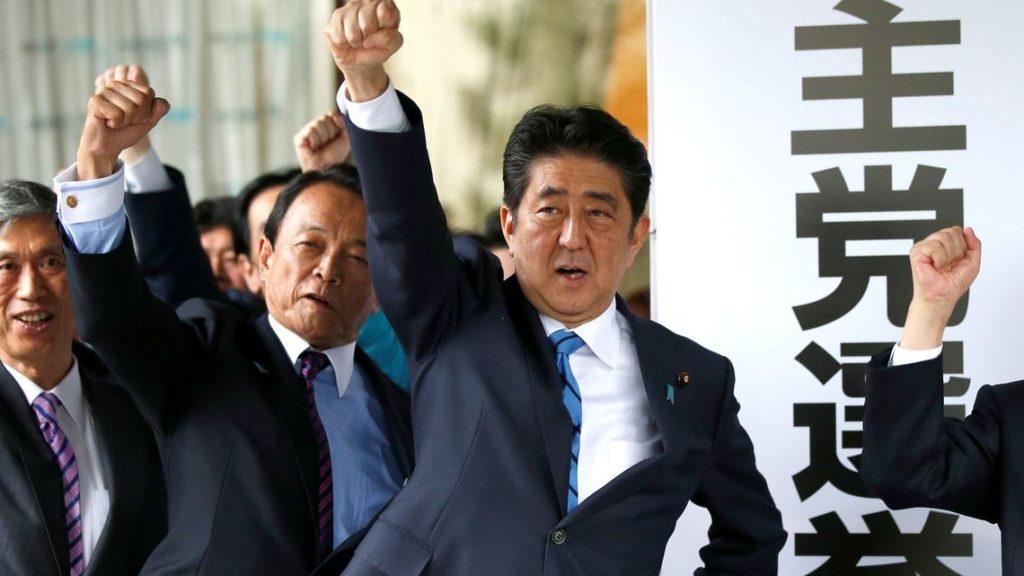 일본선거 자민당 아베총리 1024x576 일본총선거 자민당 압승! 아베총리 등 각당 대표의 거리유세 현장