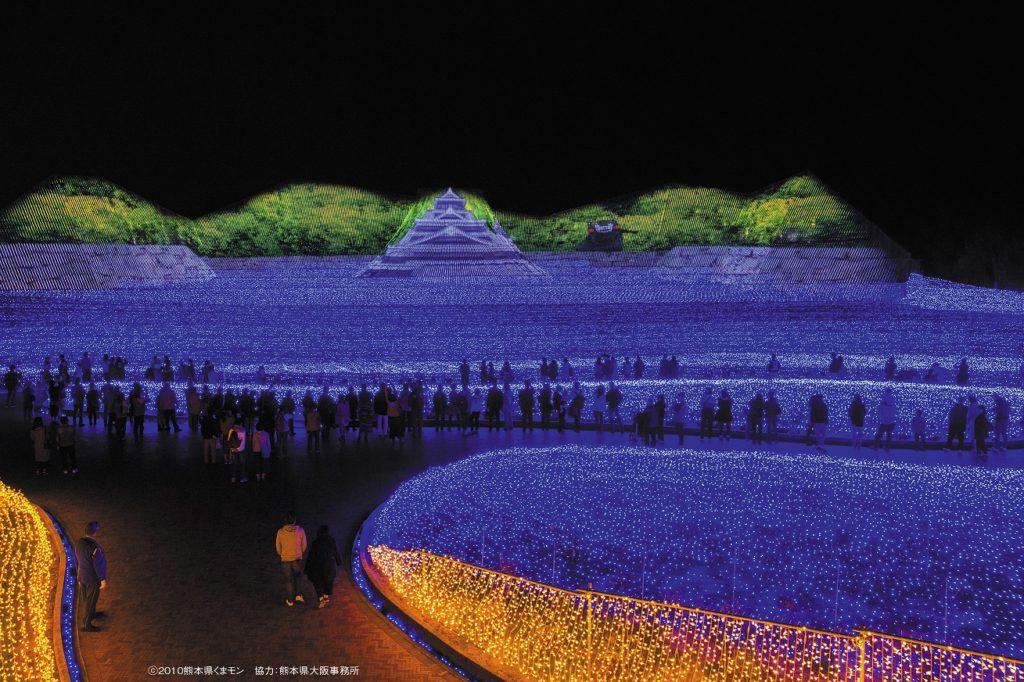 나바나의 마을 일루미네이션 1024x682 일본의 야경! 겨울 일루미네이션이 아름다운 곳 순위 발표