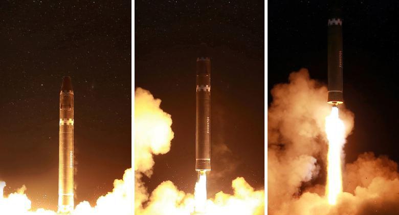 북한 탄도미사일 화성15 발사장면 북한 대륙간 탄도미사일 화성15 발사 영상 및 평양시민 모습