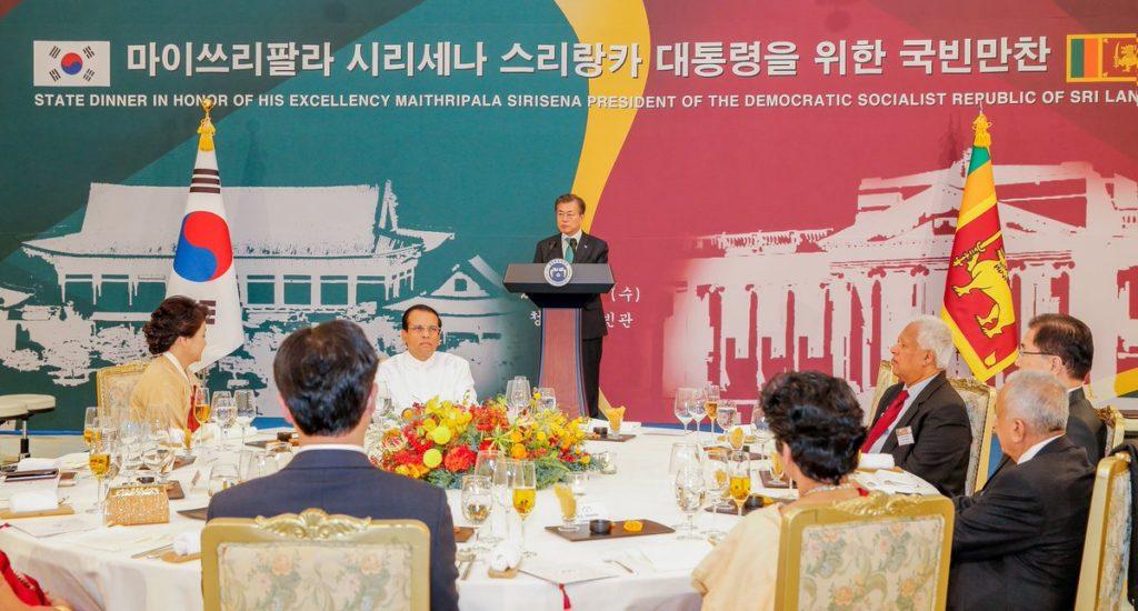 스리랑카 대통령 청와대 국빈만찬 1024x550 스리랑카 대통령, 문 대통령의 환대에 감동! 한국어 인사