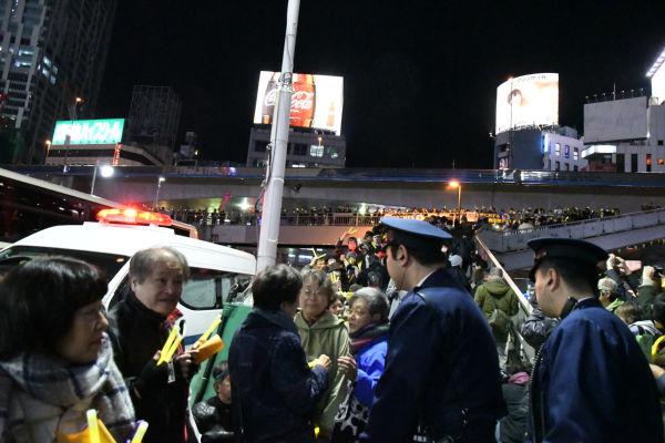 여성폭력추방 도쿄 시부야집회 일본 시민단체 위안부 문제 해결 촉구 도쿄 시부야 촛불시위