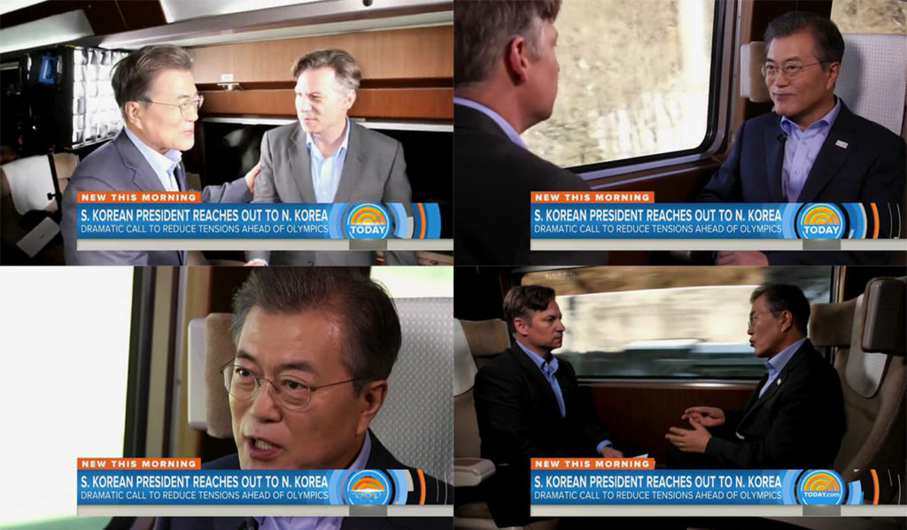 문재인대통령 KTX NBC  1024x599 문재인 대통령 평창 동계올림픽 방송사 미국 NBC인터뷰