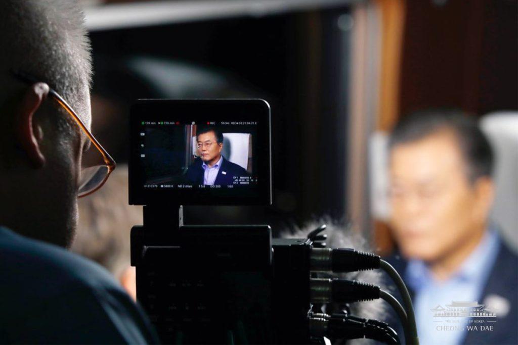 문재인대통령NBC인터뷰 1024x683 문재인 대통령 평창 동계올림픽 방송사 미국 NBC인터뷰