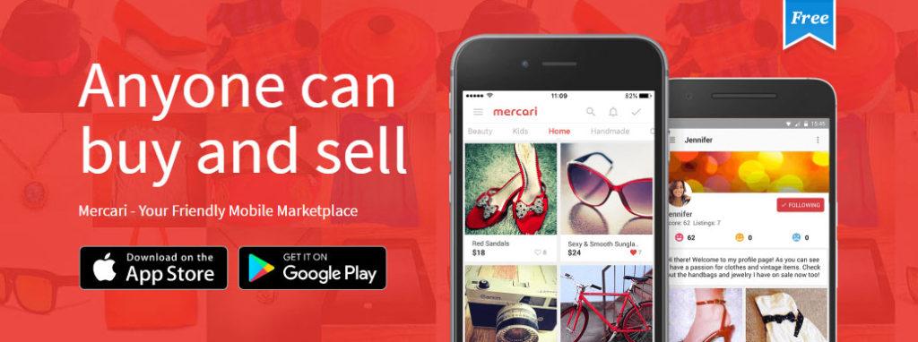 중고거래 앱 1024x382 일본 중고시장 급성장! 빈테크 어플 메루카리 유니콘기업에