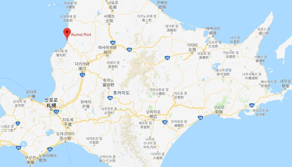 홋카이도 여행 지도 폭풍설로 홋카이도 루모이항 등대 사라져..