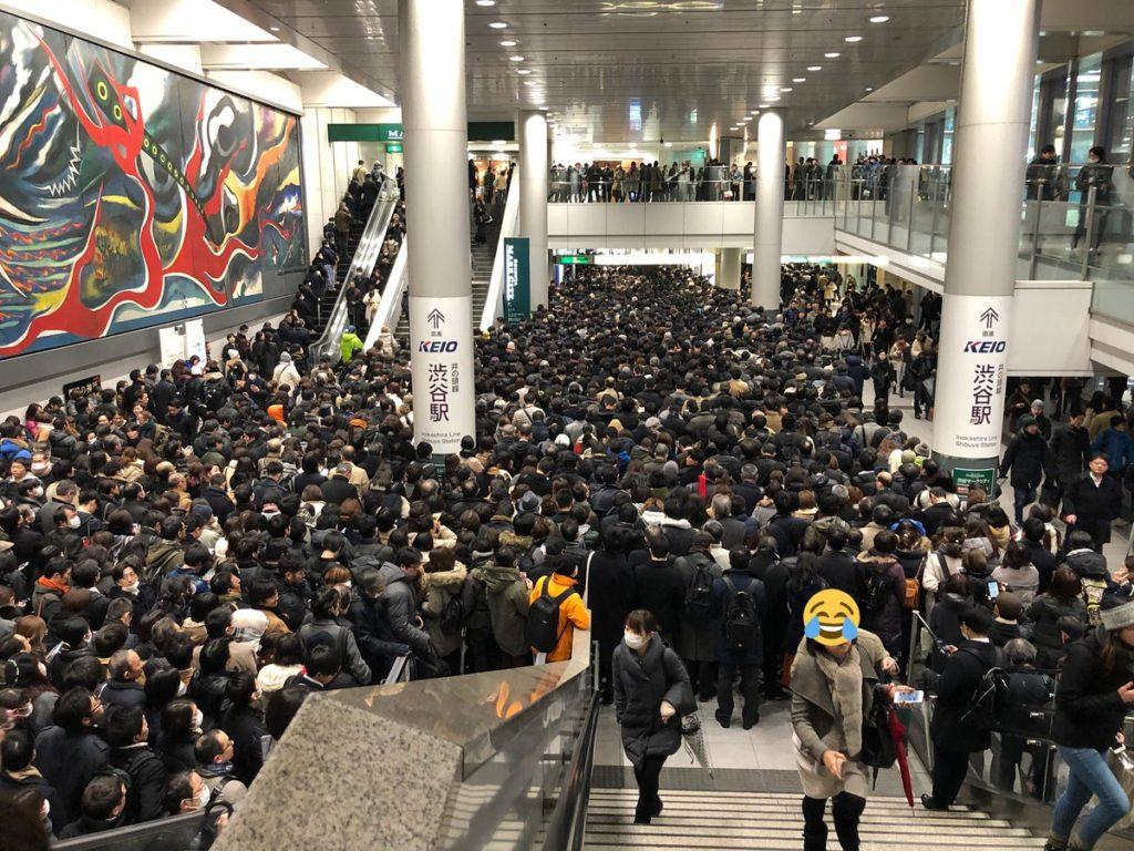 도쿄폭설 시부야역.jpg 1024x768 도쿄 4년만의 폭설로 교통마비! 나리타공항 폐쇄
