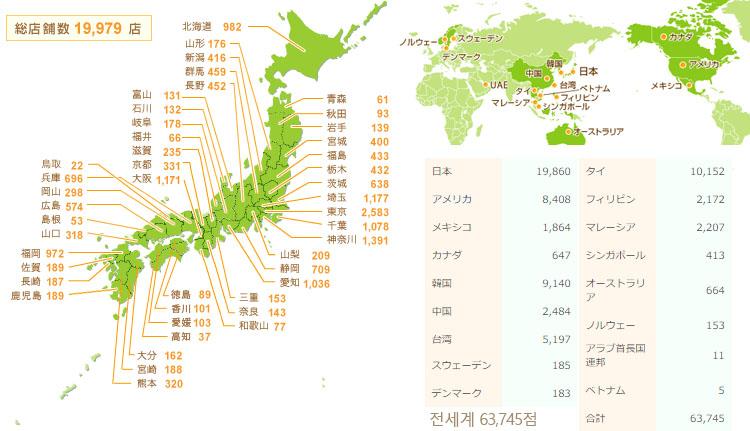 일본편의점 세븐일레븐 점포수 일본 편의점 세븐일레븐 체인점 사상 첫 2만점포 달성