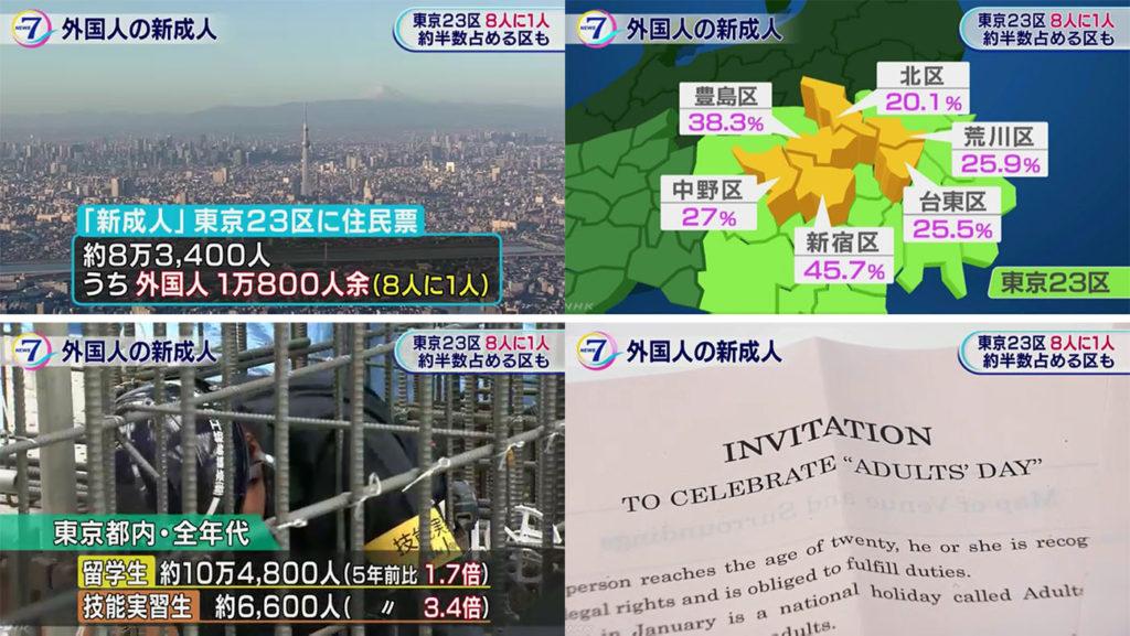 일본 성인의날 외국인 1024x577 일본 성인의 날 성인식 행사! 도쿄 23구 8명중 1명은 외국인
