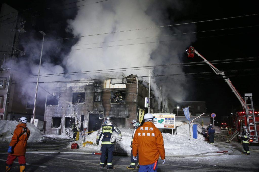 일본 삿포로 화재 사망11명 1024x680 일본 삿포로 공동주택 화재! 기초생활수급자 11명 사망