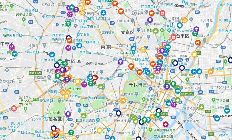 도쿄맛집 도쿄, 후쿠오카, 삿포로 등 일본의 맛집지도