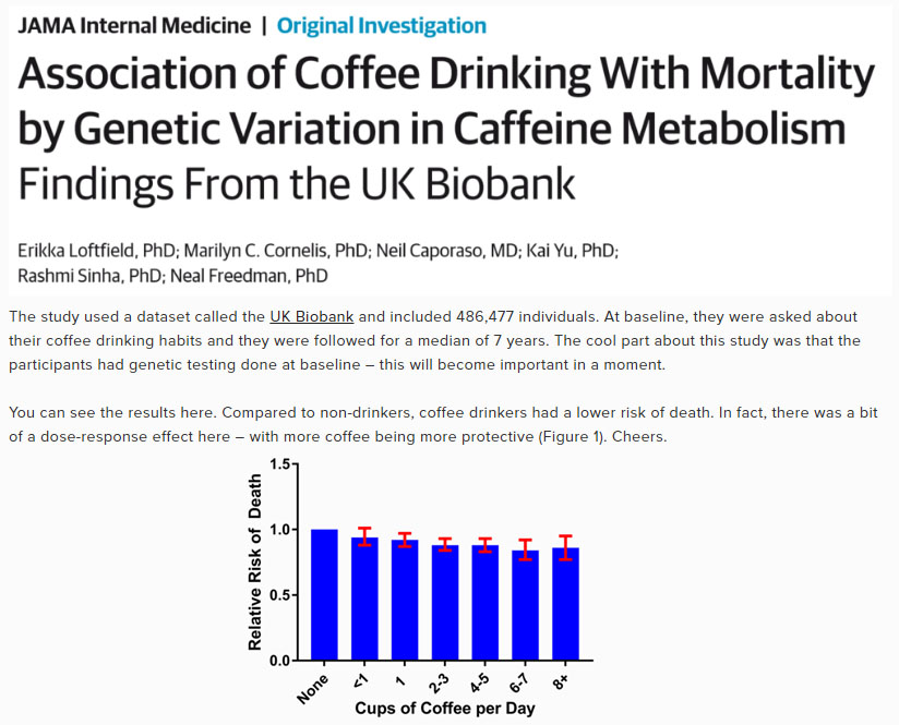 Coffee Drinking 하루 커피 8잔 이상 마셔도 사망위험 감소! 카페인 효과?