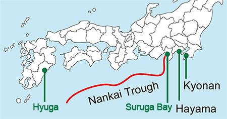 nankai map 일본정부 난카이 대지진 대책회의! 지진피해 최소화 위해 사전경보