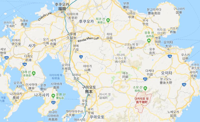 미야자키 살인사건 지도 일본 미야자키현 농가 일가족 5명 포함 6명 살해사건