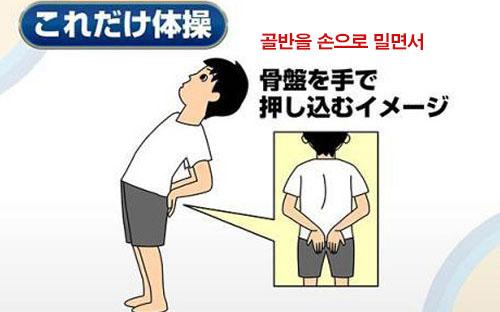 요통체조 화제의 급성요통 치료! 허리통증 예방 3초 스트레칭 동작 및 자세