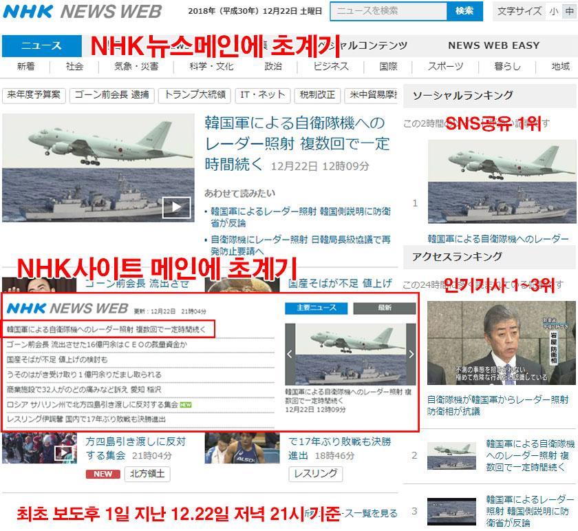 초계기 조준 일본반응 사격관제 레이더 P1초계기 조준과 일본의 반론! 우발적 사고 가능성
