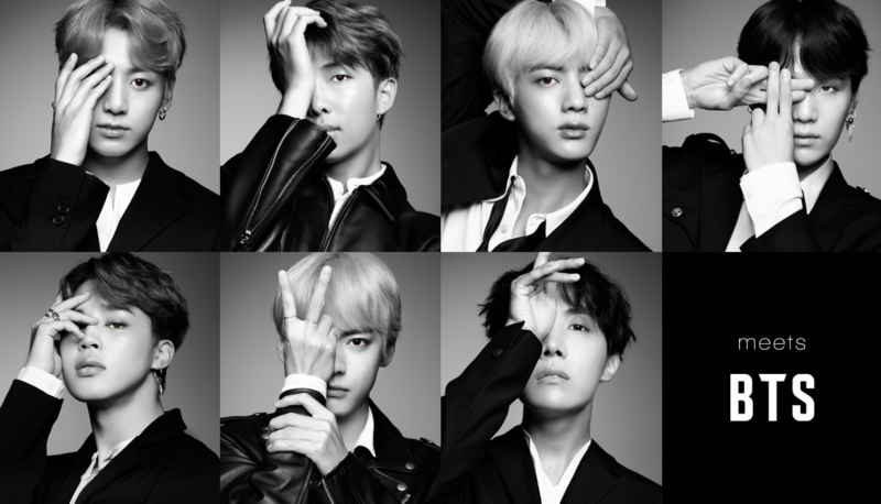 bts컬러렌즈 컬러 콘택트 렌즈 PLAY UP 방탄소년단(BTS) 일본광고