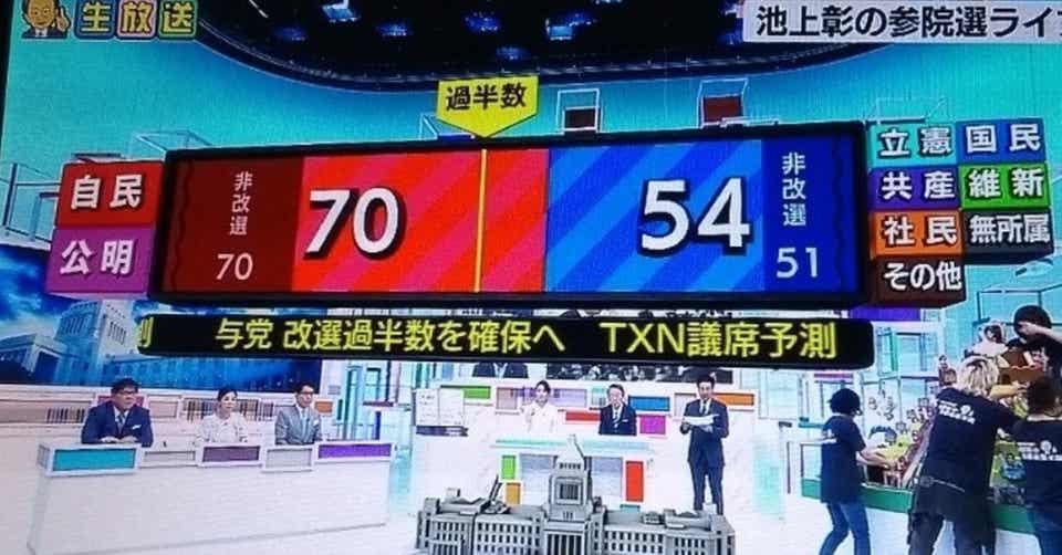 일본선거 출구조사 일본 참의원 선거 투표율 50% 못미쳐! 출구조사는 연립 여당 과반 확보