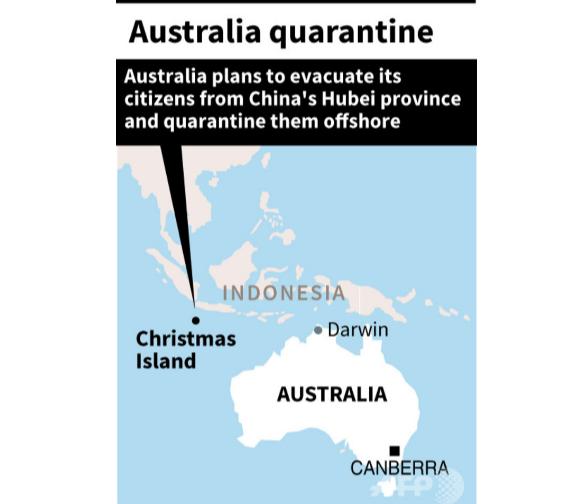Christmas Island 중국 우한 전세기 귀국 일본인 3명 감염! 26명 신종 코로나바이러스 감염증 검사