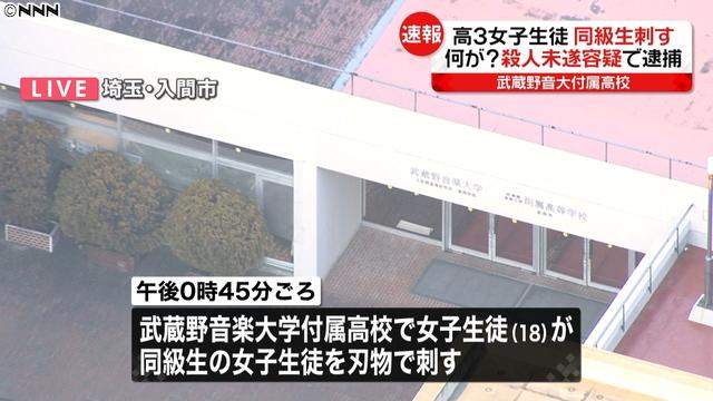 일본여고생 살인미수 동급생 친구를 칼로 찌른 일본 여고생 살인미수 혐의! 죽일 생각이었다.