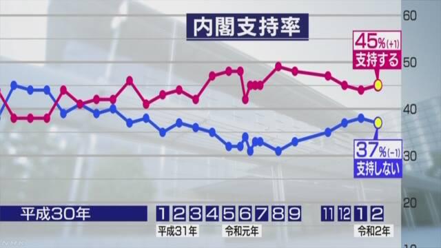 2월 아베지지율 NHK 2월 여론조사 아베지지율 45%! 일본정부의 신종코로나 대응 64% 긍정 평가