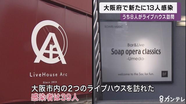 오사카 공연장 코로나 집단감염 오사카 라이브하우스 50명 이상 신종 코로나바이러스 집단감염