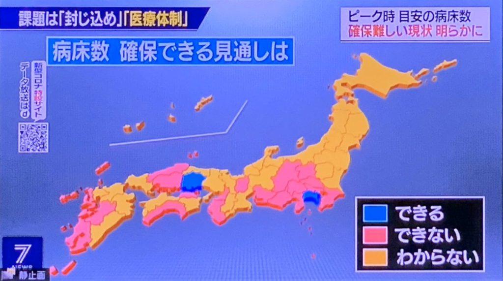 코로나 병상확보 1024x571 27일 일본 신종 코로나바이러스 확진자 2236명(+123), 사망자 62명(+5)