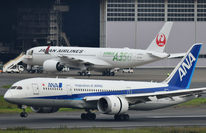ANA JAL ANA와 JAL, 일본 입국제한 조치에 한중노선 축소 및 운항정지