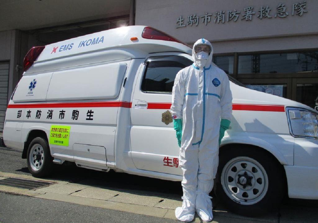 일본구급대 코로나환자 1024x721 일본 소방청, 코로나19 확진자 구급차 이송 건수 1천건 넘어